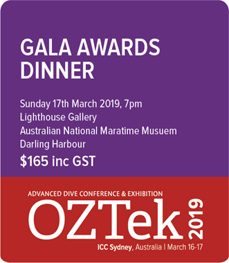 OZTek2019 Advanced Diving Gala Awards Dinner