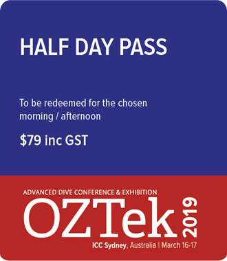 OZTek2019 Advanced Diving Conference Half Day Pass